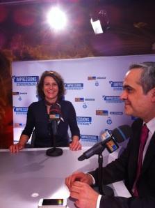 Caroline Valent avec M. Picot dans un studio TV |BFM
