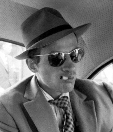 Jean-Paul Belmondo portait des lunettes Amor/Solamor